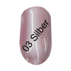 GS-Nails 1 Dose Meerjungfrauen Effekt Pigment  Mermaid Nail Art (Silber03) + Applikator