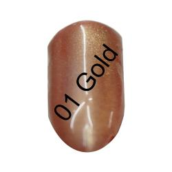 GS-Nails 1 Dose Meerjungfrauen Effekt Pigment  Mermaid Nail Art (Gold01) + Applikator