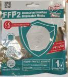 FFP2 Maske Mundschutz CE Zertifiziert einzeln verpackt